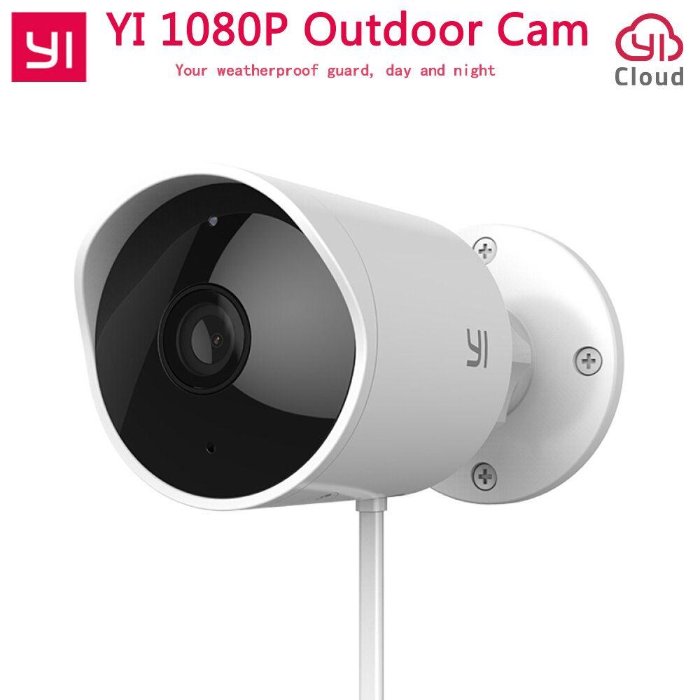 Xiaomi YI Outdoor Security Camera Cloud Camera Wireless IP 1080P Resolution Waterproof Night Vision Security Surveillance Cam