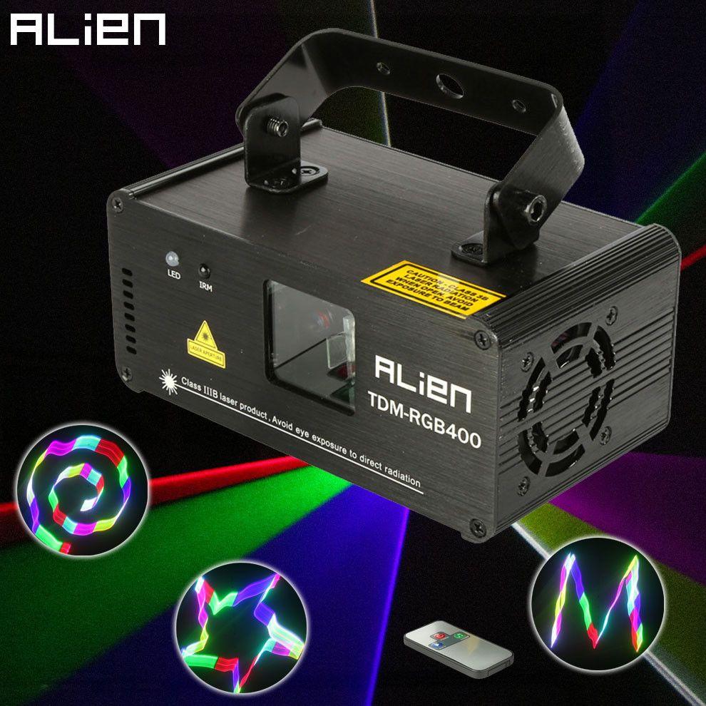 ALIEN Remote 3D RGB 400mW DMX 512 Laser Scanner Projector Stage Lighting Effect Party Xmas DJ Disco Show Lights Full Color Light
