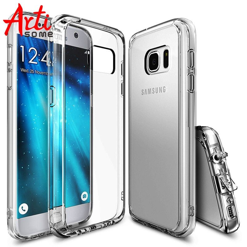 Ударопрочный чехол для Samsung S7 S7 край крышки Кристалл силиконовый чехол телефона для Samsung Galaxy S7 S7 край чехол artisome