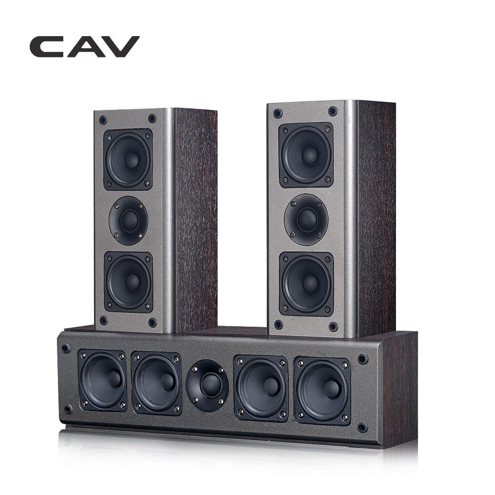 CAV SP950CS High-end Heimkino 5,0 DTS Holz Passive Lautsprecher Zentrum Surround Sound Lautsprecher System Koaxial Übertragung