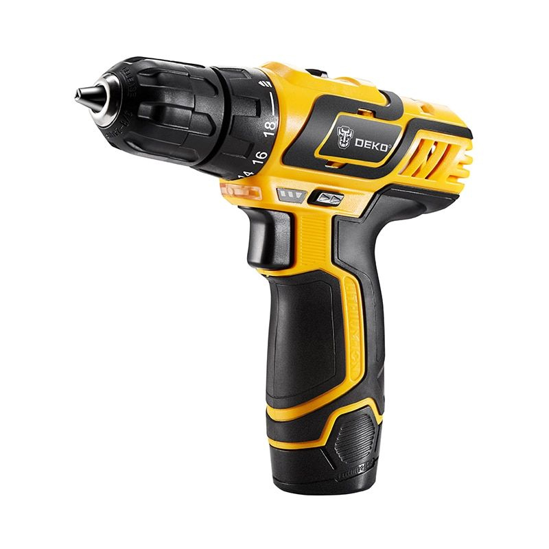 DEKO GCD10.8DU3 10.8V DC New Design Household Lithium-Ion Battery Cordless Drill/Driver Power Tools Electric Drill Set with BMC