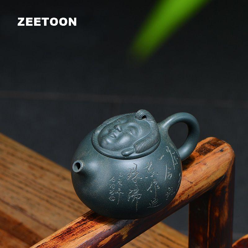 220cc Authentic Yixing Teapot China Healthy Purple Clay Buddha Margin Pot Macster Handmade Creative Zisha vintage Kettle Tea Pot