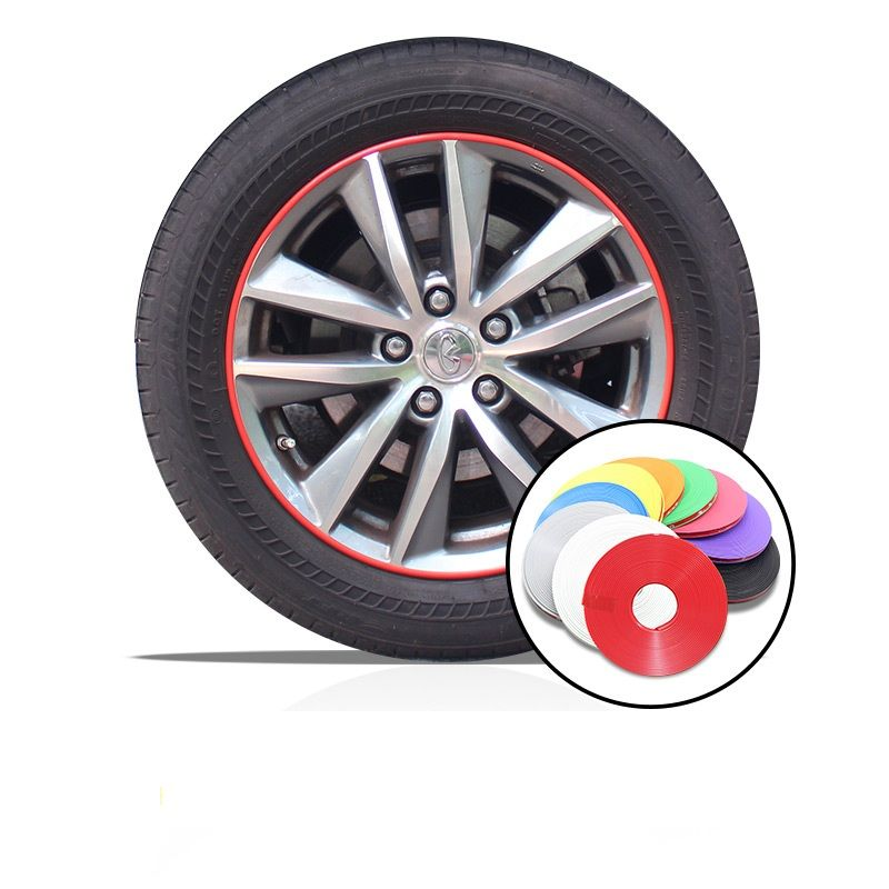 8M Car Styling Hub Trim Decoration Anti-Collision Strip Wheel Rim Protector Ring Wheel Tire Edge Changer Guard stickers