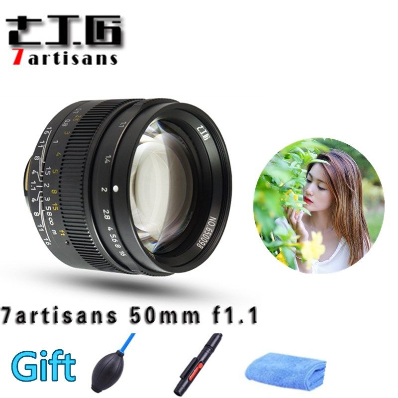 Original 7artisans 50mm F1.1 M Mount Fixed Lens for Leica M-Mount Cameras M-M M240 M3 M6 M7 M8 M9 M10