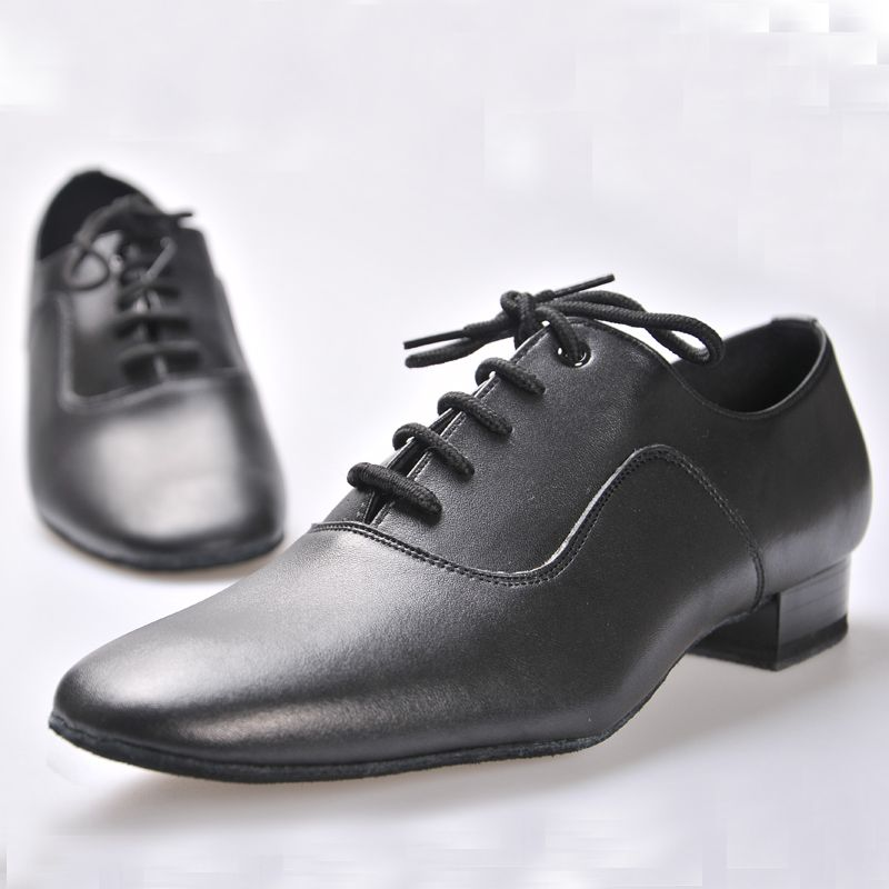 Latin shoes BD Dance shoes for Men Boy Ballroom 100% Cowhide Durable wear Social dance Genuine Leather Jazz shoes Non-slip sole