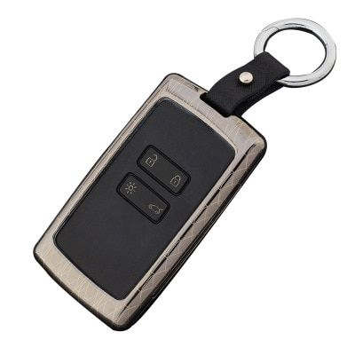 Zinc Alloy+Leather Keychain Car key cover case protector holder for Renault koleos Kadjar Keys With Key Rings case