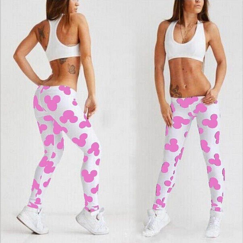 Haute qualité femmes jambières d'exercices mouvement vêtements nouveau lait noir bande dessinée impression Legging mode Fitness Leggins femme Plus