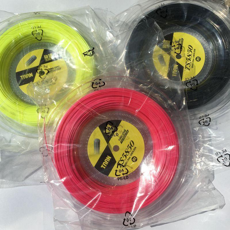 1 Reel TAAN TS5850 Tennis saiten Spin polyester 10-angle harten linie saiten 1,20mm tennisschläger string 200 Mt big banger