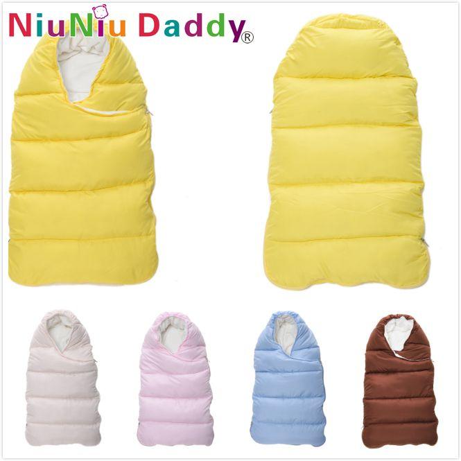 Niuniu Daddy Baby sleeping Bag winter Envelope for newborns sleep thermal sack Cotton kids sleepsack in the <font><b>carriage</b></font> chlafsack
