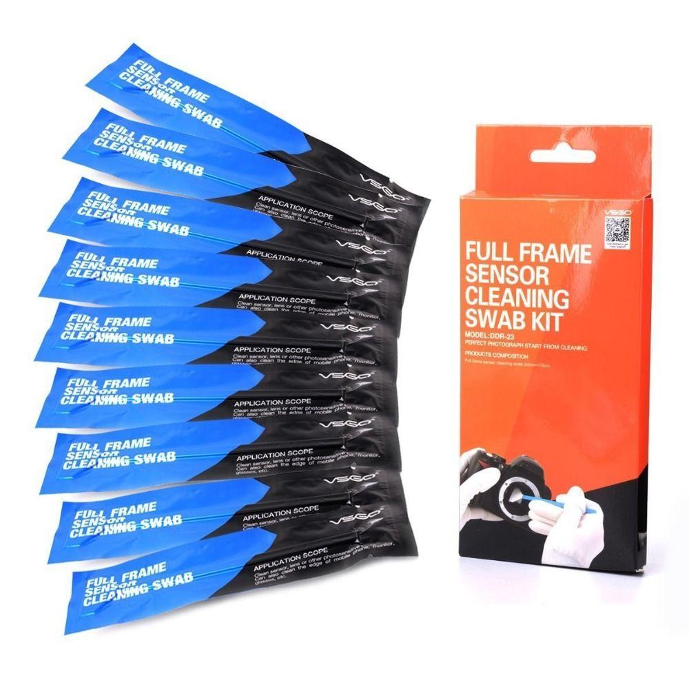 Kit d'écouvillon de nettoyage de capteur d'appareil photo reflex plein cadre VSGO DDR-23 pour appareil photo numérique Nikon Canon