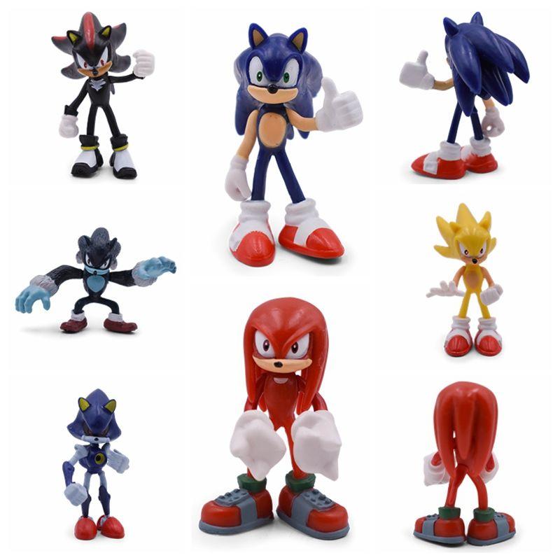 Figurine sonique mignon Anime Mini Boom sonique ombre Rare PVC à collectionner modèle poupée jouets cadeau pour enfant livraison gratuite