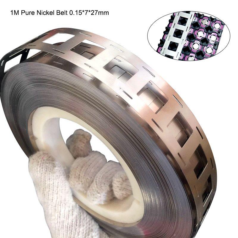 1M 99.96% High purity Pure Nickel belt 3P 4P 5P 6P lithium battery nickel strip Li-ion batteries Ni plate used for 18650