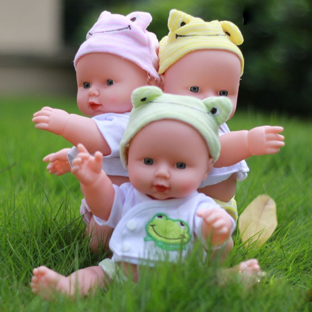 30cm Reborn Baby Doll Soft Vinyl Silicone Lifelike Alive Baby Early Educational Toys for Girls Birthday Chirstmas Gift