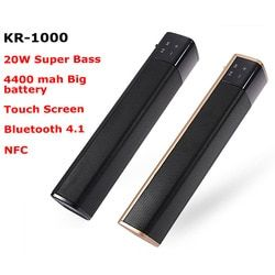 JKR Bluetooth Speaker 20W Super Bass Stereo Wireless Portable High Quality Subwoofer NFC AUX TF Card Sound Bar for TV Phone PC