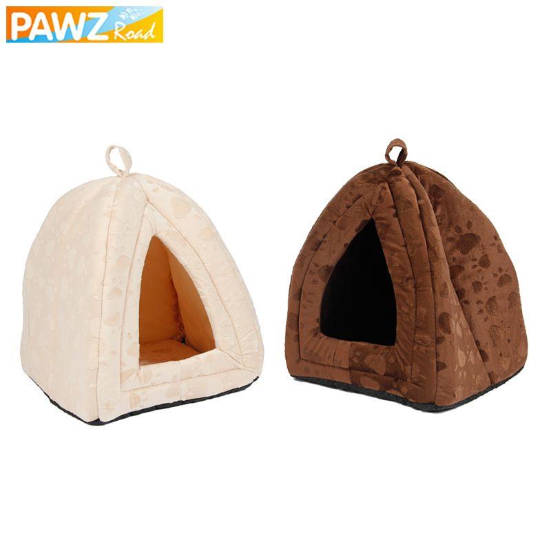 Maison de chien de luxe doux pour animaux de compagnie chats meubles de maison pliable chiot lits chiens tapis chenil pour petits chiens moyens chats produits