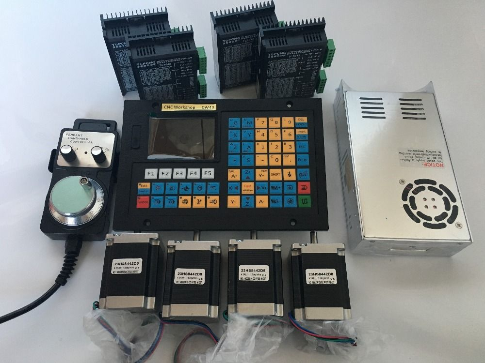 4 Axis CNC Controller kits Offline Stand Alone Replace Mach3 USB CNC Router Engraving Drilling Milling Machine