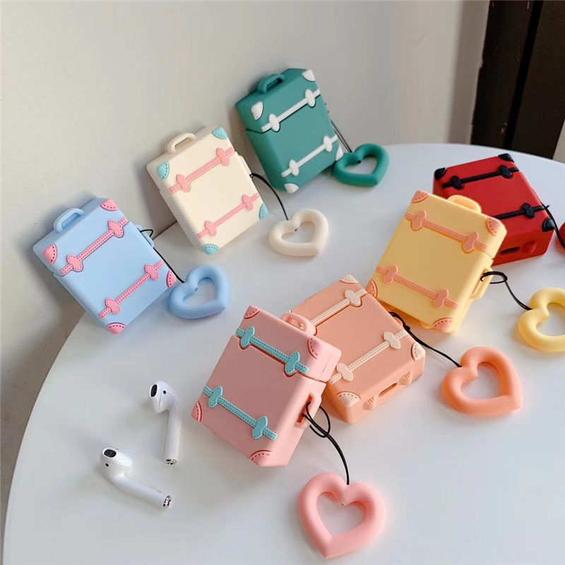 3D Cartoon Cute trunk For Apple AirPods Headphones Cases Wireless Bluetooth Earphone Case For Airpods Protective Cover