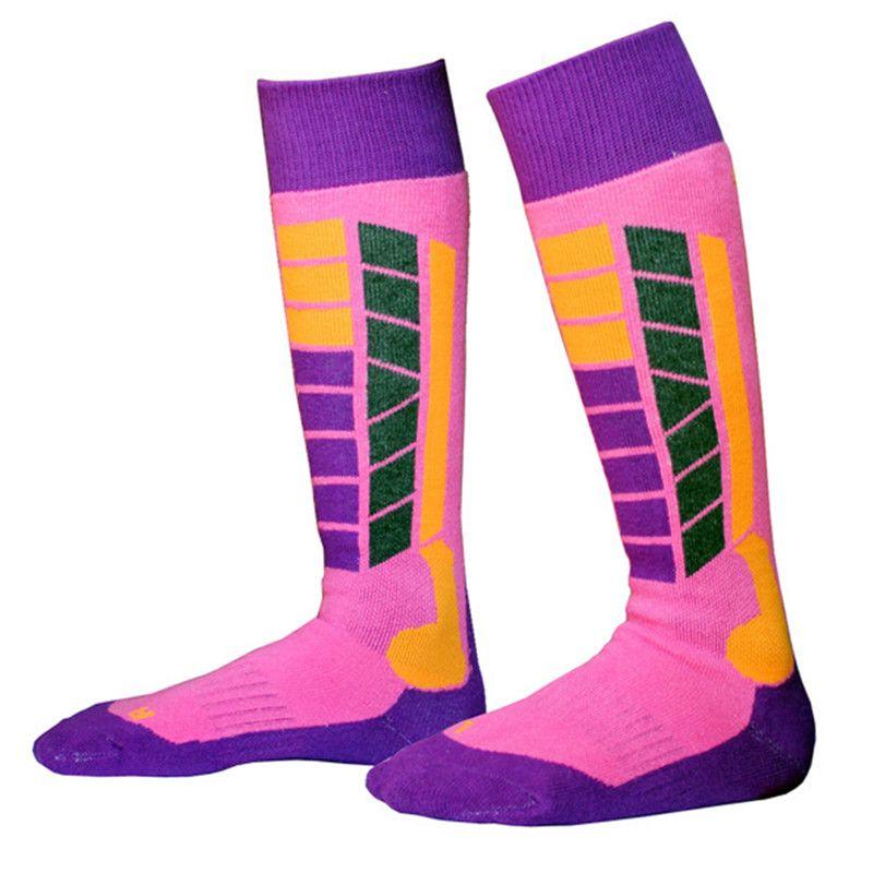 Winter Warm Kids Thermal Skiing Socks Youth Thicken Cotton Sports Snowboarding Hiking Cycling Girls Boy Ski Long Sock Leg Warmer