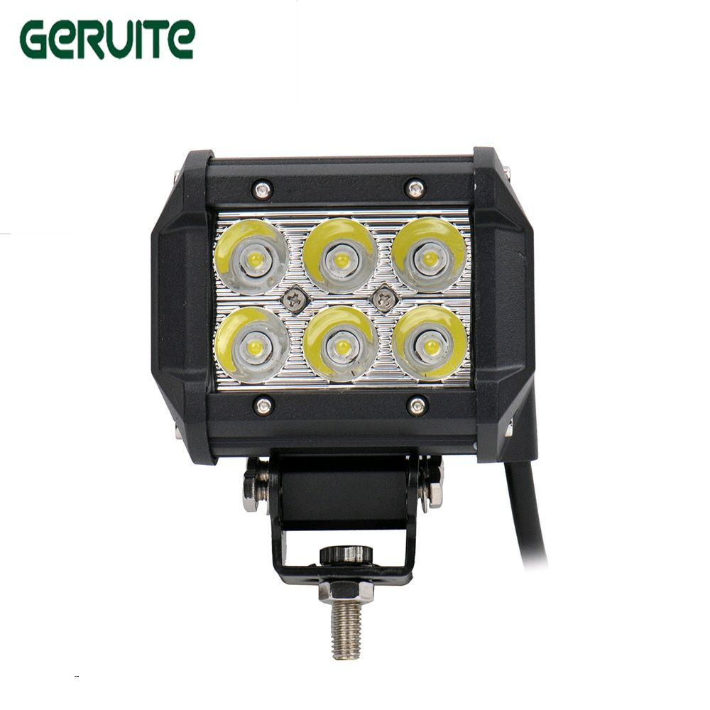 1Pc 4 inch 18W LED Work Light Lamp for Motorcycle Tractor Boat Off Road 4WD 4X4 Truck SUV ATV Spot 12V 24V car spot fog light