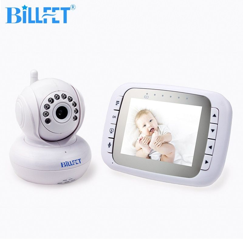 2.4GHz Wireless video Baby Monitor with Camera IR Night Vision Camera Bebe Pan/Tilt remote video surveillance Nanny Baby Cam