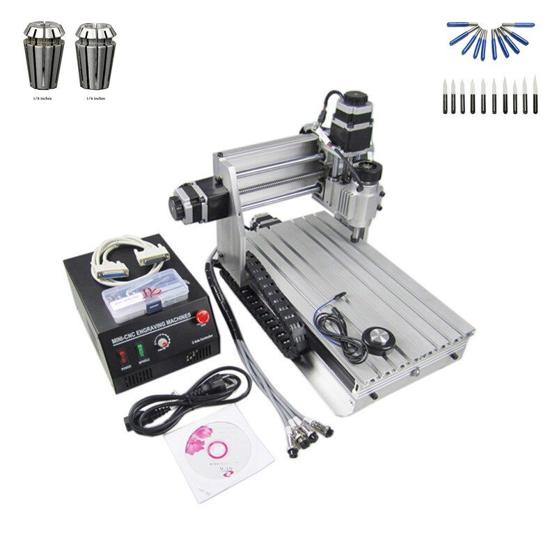 230W spindle cnc laser machine 3020T wood router with free cutter er11 collet