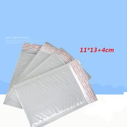 10 pcs/Lot (11 cm * 13 cm) Blanc Bulle Enveloppe Bulle Film Sac Perle Film Enveloppe Sac De Choc
