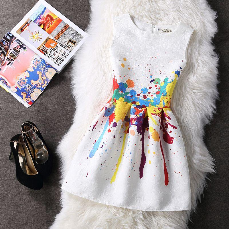 2018 nouvelle marque printemps été robe femmes vêtements Sexy fête papillon princesse sans manches Vintage imprimé robe Vestidos
