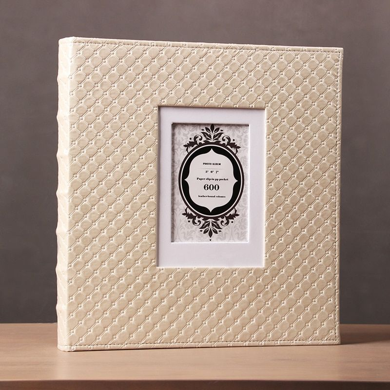 Inset Photo Album Series Large Capacity 600 Sheets With 5 6 7 Inches Photo Leather Cover Picture Storage Book