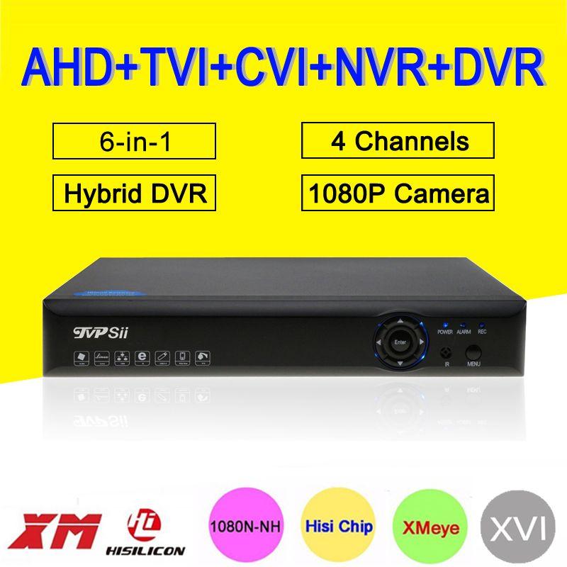Blue-Ray Hi3520D XMeye DVR 4 canaux 4CH 25fps 1080 P/1080N/960 P/720 P 5 en 1 hybride CVI TVi NVR AHD CCTV DVR livraison gratuite