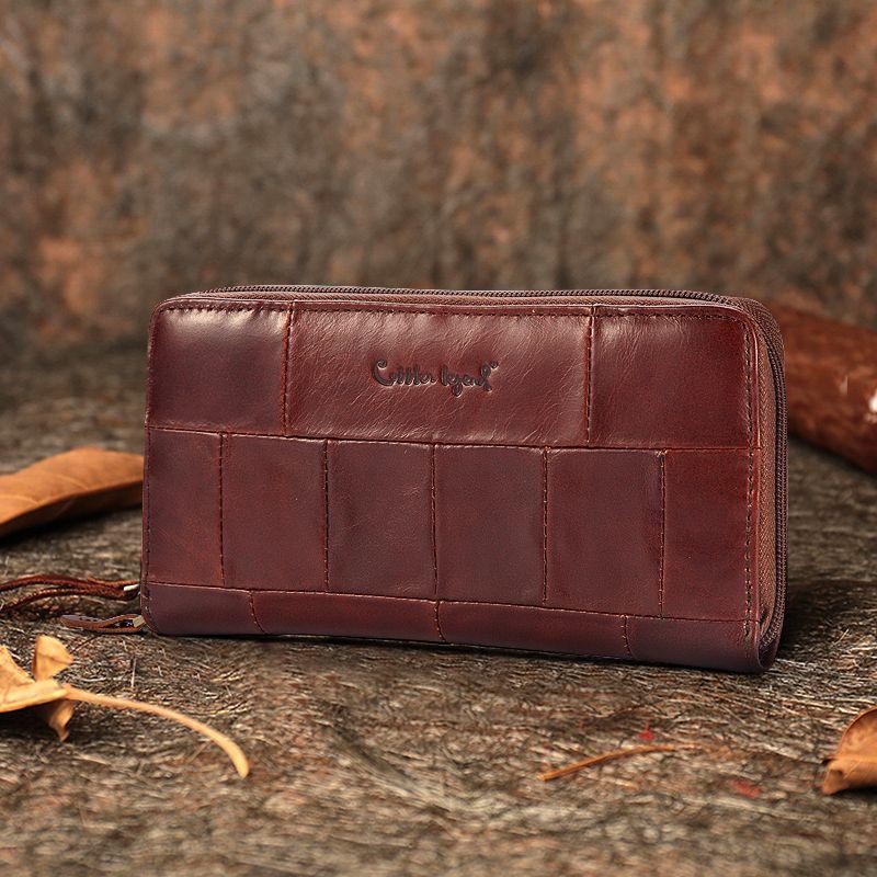 Cobbler Legend marque Designer décontracté femmes portefeuille en cuir véritable Long portefeuille pour dames monnaie carte sacs à main pour femme monnaie poche