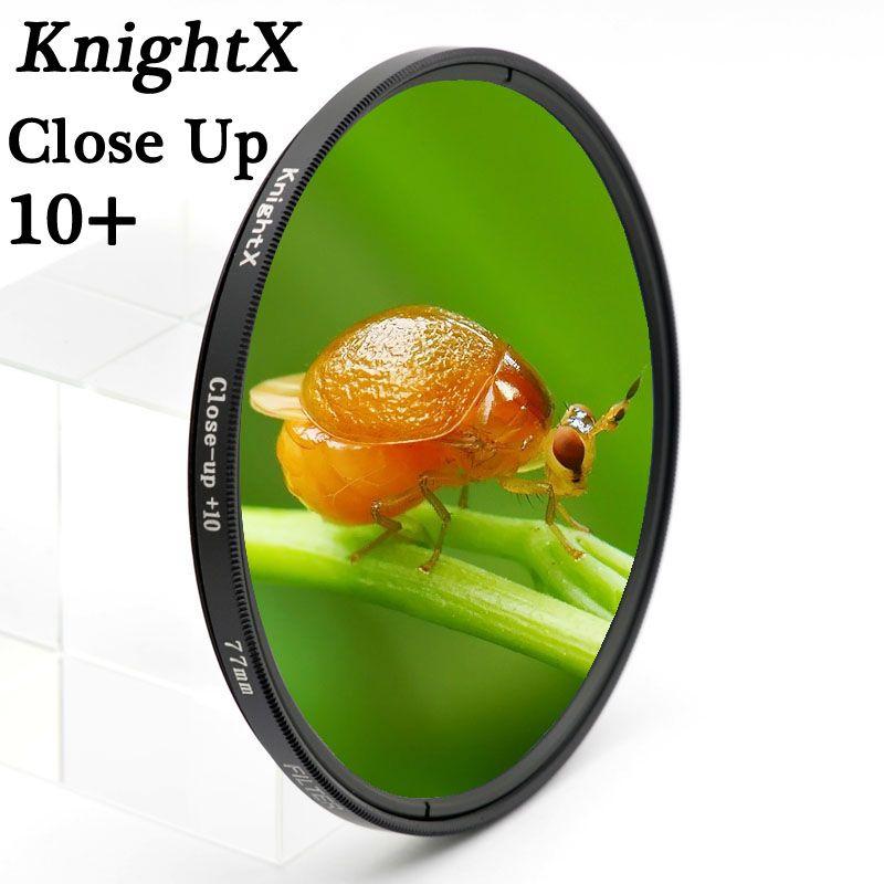 KnightX 52 58 67mm Macro Close Up lens Filtre pour Pentax Sony Nikon Canon EOS DSLR d5200 d3300 d3100 d5100 caméra lentille lentilles