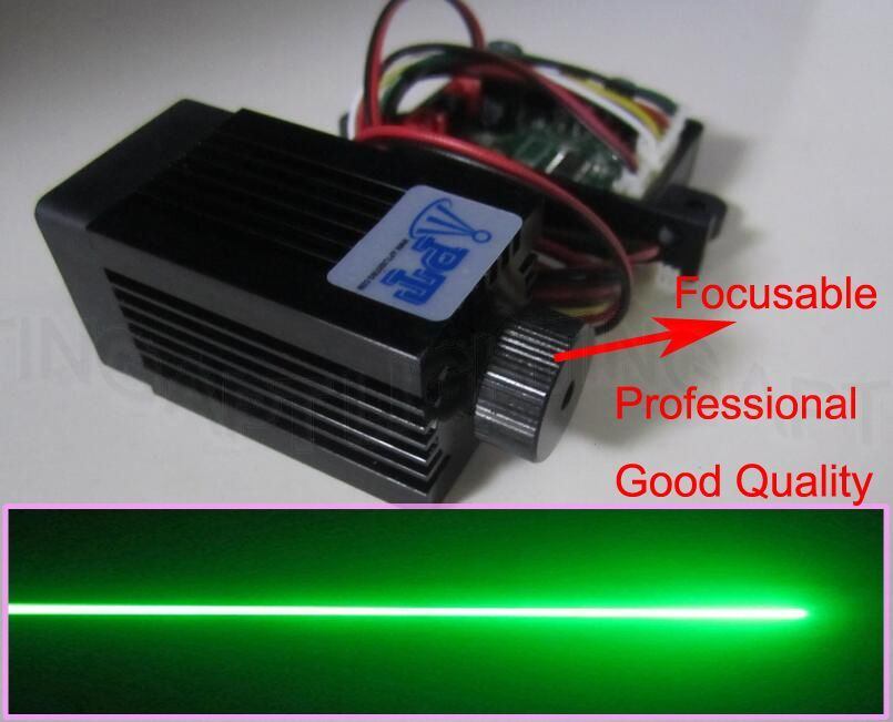 Focusable Quality Super stable 200mW 532nm green laser module Stage Light RGB Laser Diode Compact Design/TT L DC 12V luces laze