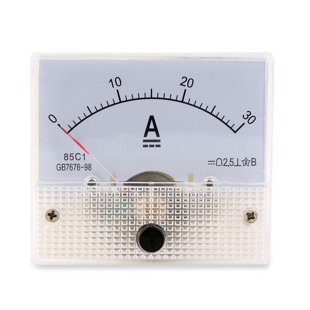 Hot Suche DC 30A Analog Amperemeter-panel AMP Current Meter 0-30A DC Muss nicht Shunt Neue