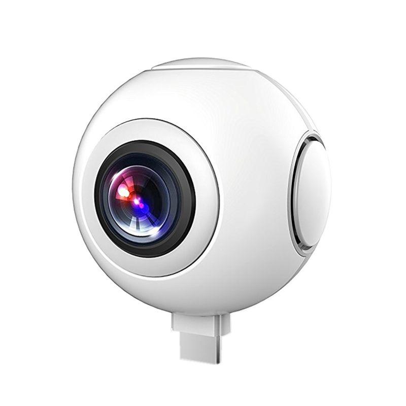 720 Cámara Panorámica de 360 Grados VR Cámara de Vídeo HD de Doble Lente Gran Angular En Tiempo Real Sin Costura para Android Smartphone