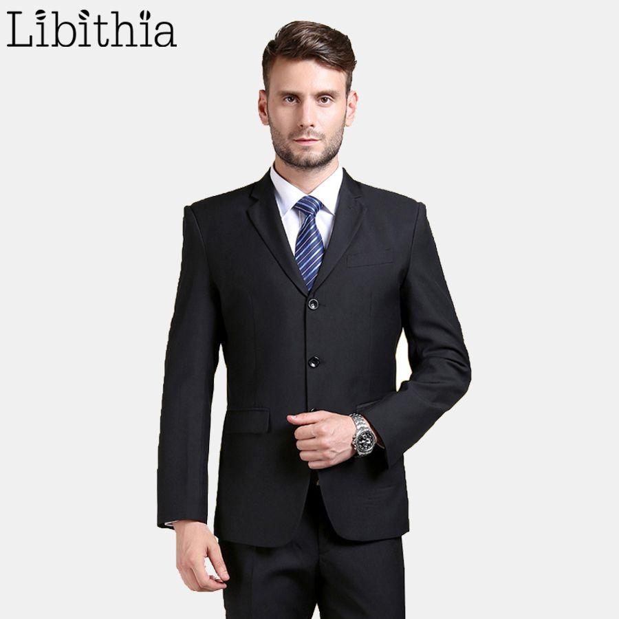 (Vestes + pantalons) nouveauté travail hommes Costume supérieur trois boutons Slim Fit smoking marque mode robe Costume de mariage Blazer B067