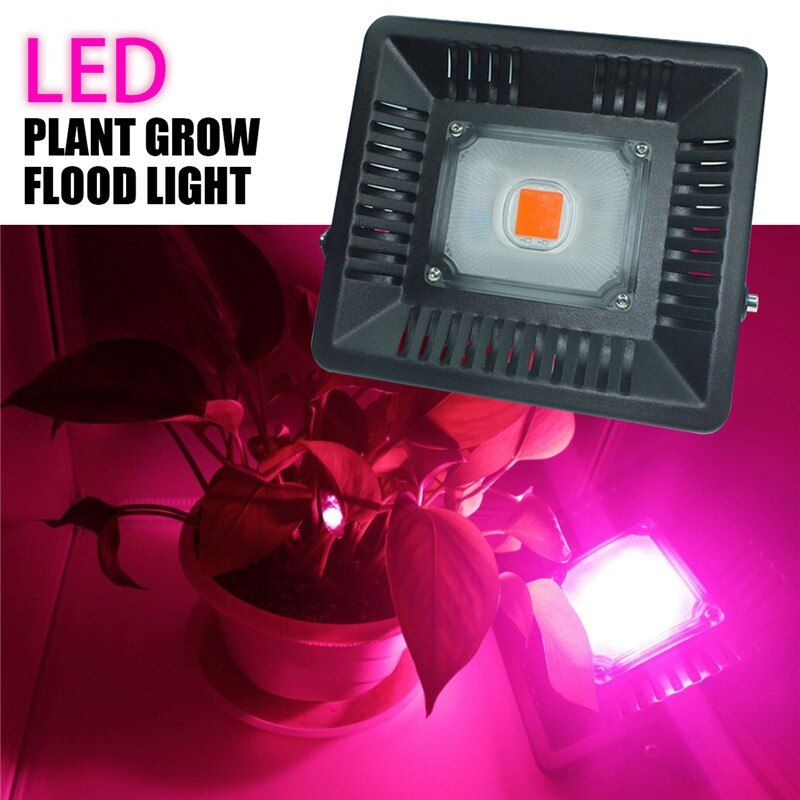 50W AC170-300V 50W LED Spotlight Full Spectrum LED Grow Light Plant LED Flood Light Outdoor Waterproof Ultra Thin