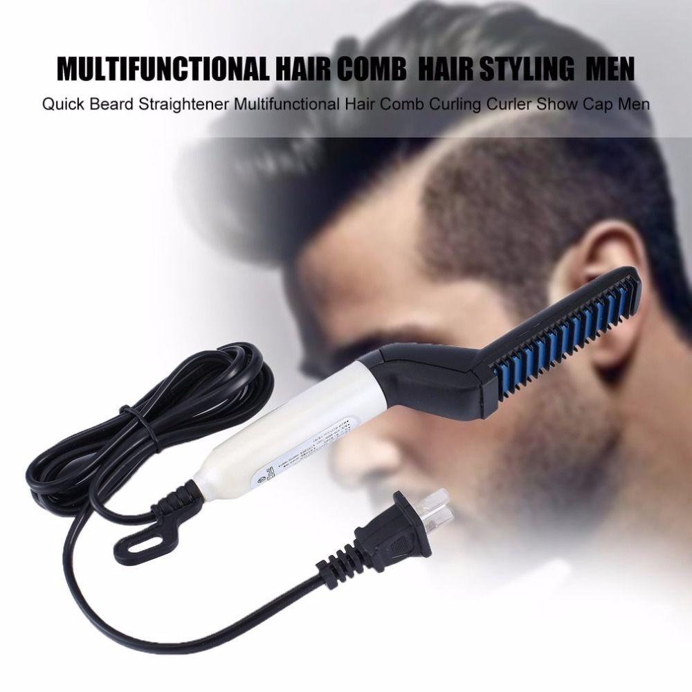 Livraison directe cheveux peigne rapide barbe lisseur Curling bigoudi Show Cap hommes beauté cheveux Styling outil cadeau boîte Pack