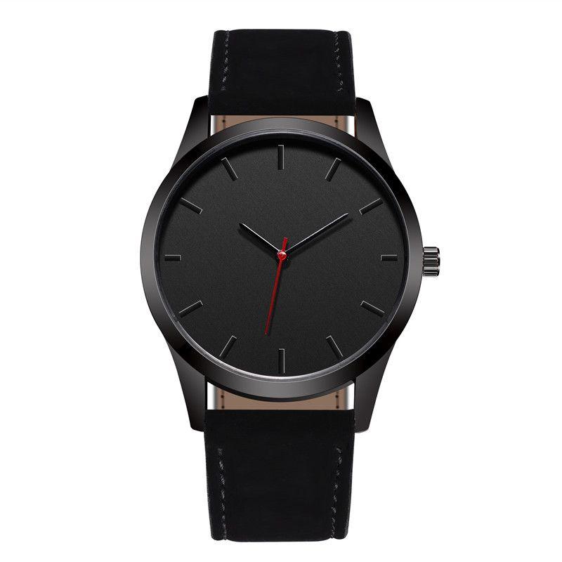 Reloj 2018 Fashion Large Dial Military Quartz Men Watch Leather Sport watches High Quality Clock Wristwatch Relogio Masculino T1