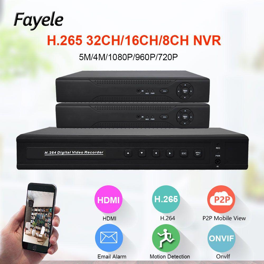 H.265 sécurité 8CH 16CH HD IP 1080P 5MP 4MP NVR 1.2U 2 Port SATA Hi3535 processeur 3G WIFI 32CH Surveillance enregistreur vidéo Onvif