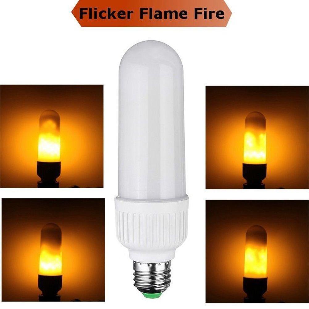 5W 2835 SMD AC 85-265V E26/E27 99 LEDs Flame Fire Light Effect Simulated Nature Corn Bulbs Christmas Decoration Lamp --M25
