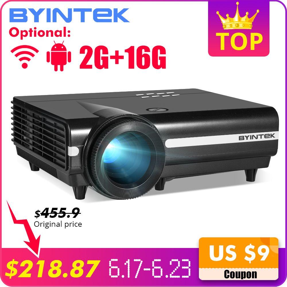 BYINTEK MOON BT96Plus Prise en charge du Projecteur 4K Smart Video LED Wi-Fi Full HD 1080P