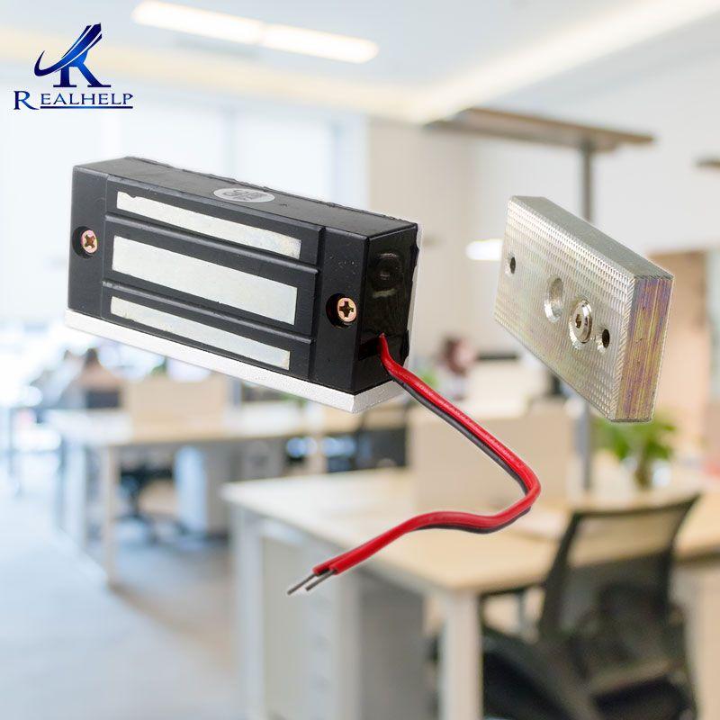 60 kg 100Lbs Force 12VDC Visible Cabinet d'installation Serrure Magnétique Mini Classeur Serrure Petit Maglock Unique Porte NC Accès