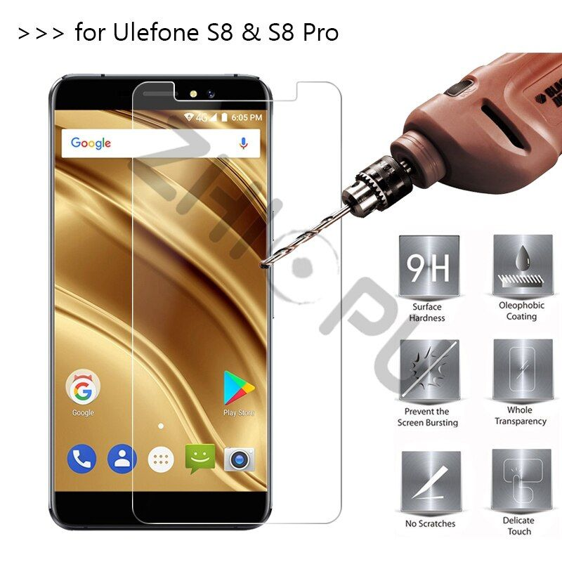 2.5D 0.26mm 9H Premium Tempered Glass For Ulefone S8 / S8 Pro Screen Protector Toughened protective film For Ulefone S8