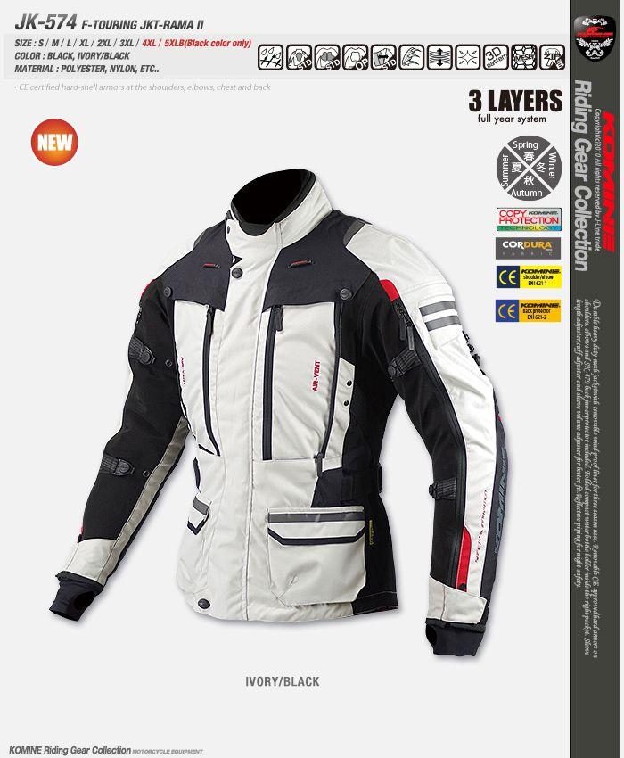 New Motorcycle Hunting Jacket JK-574 Full Year Touring Jacket RAMA II Winter Jacket
