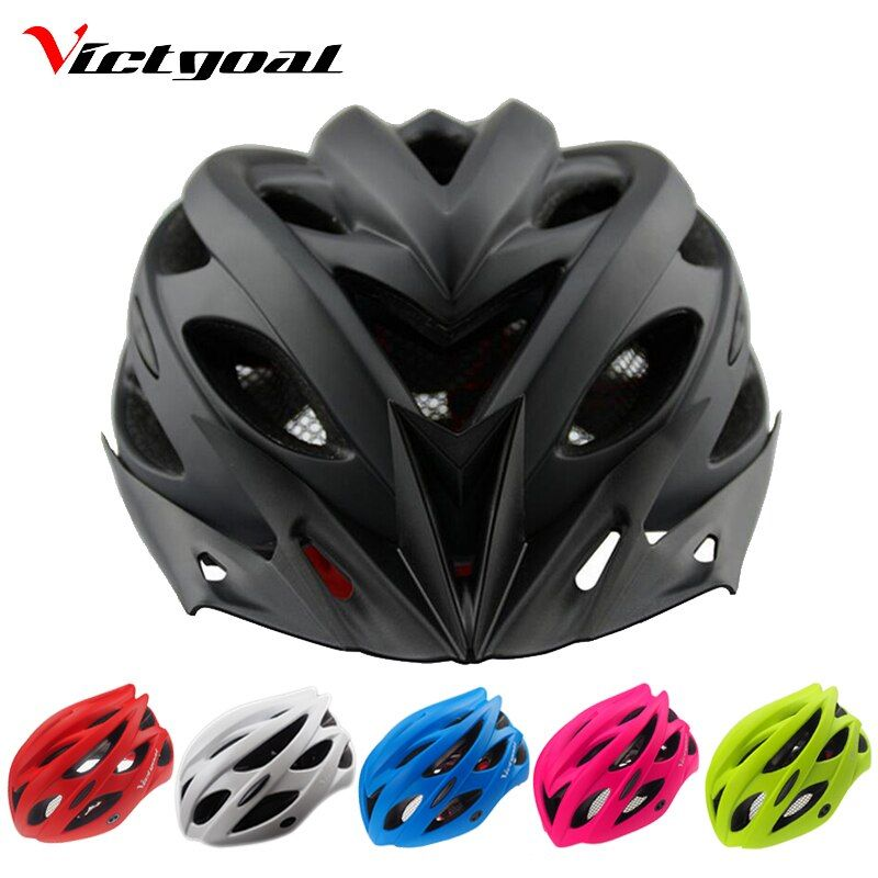 VICTGOAL Bicycle Helmets Matte Black Men Women Bike Helmet Back Light Mountain Road Bike <font><b>Integrally</b></font> Molded Cycling Helmets