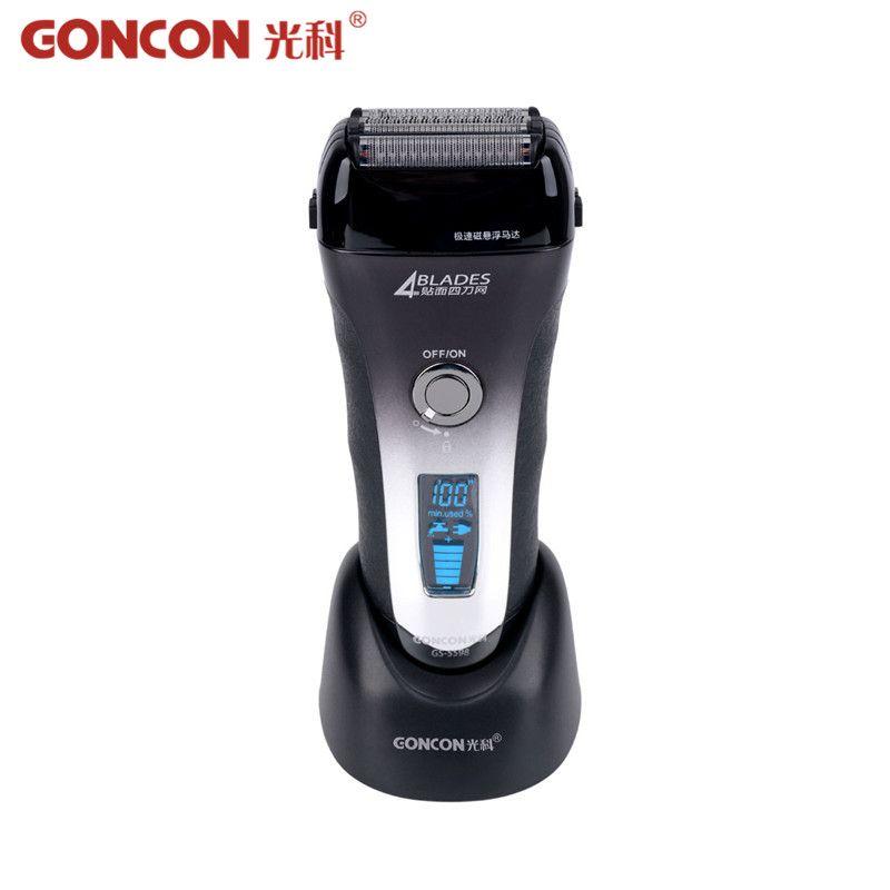 Lavable Rasoir Électrique Rechargeable Électronique LCD Affichage 4 Lame Barbeador Cheveux Rasage Cleaner Machine De Découpe chaude 50
