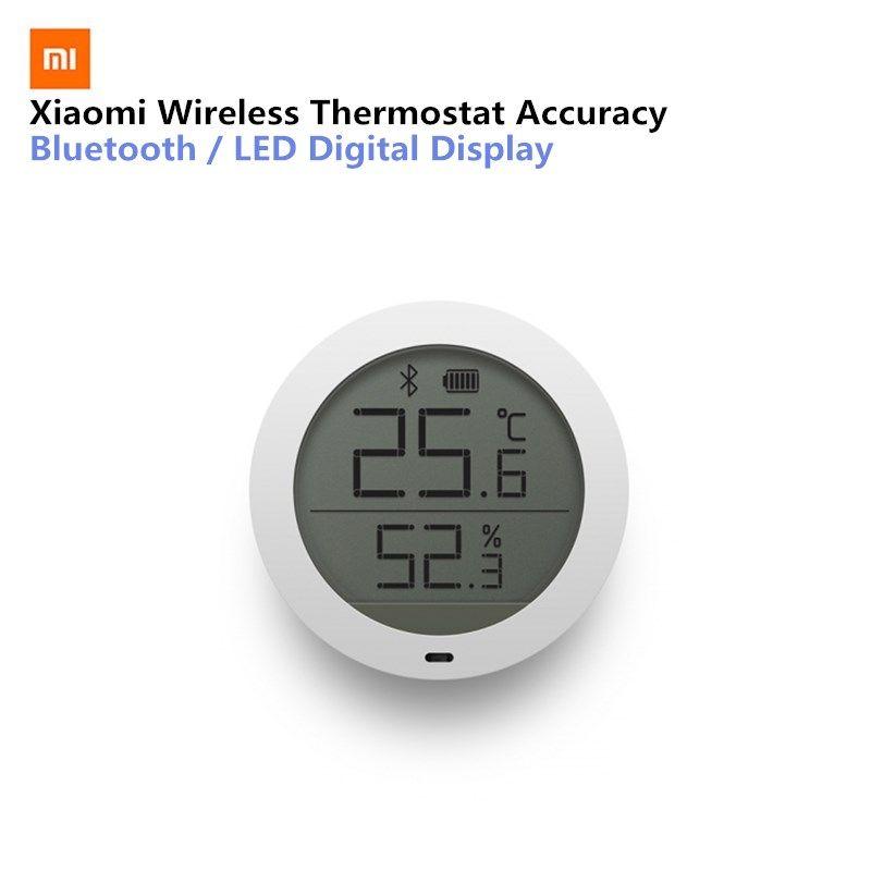 Xiaomi Mijia Thermostat Intelligent Précision Température Numérique Sans Fil Bluetooth Capteur D'humidité Meter Travail sur APP Avec Batterie