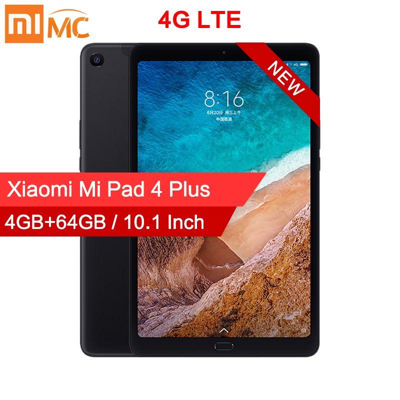 Tablette d'origine Xiao mi mi 4 Plus 10.1 Snapdragon 660 Octa Core 1920x1200 13MP + 5MP Cam 8620mAh 4G tablettes Android mi Pad 4