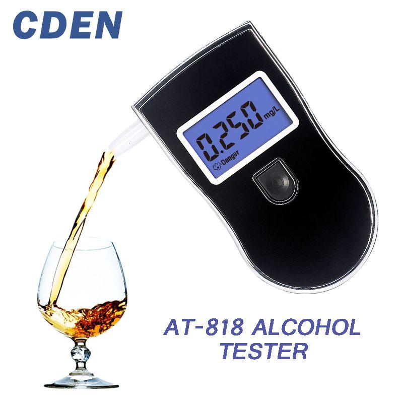 Alcootest de réponse rapide de souffle d'affichage à cristaux liquides de Police professionnelle d'appareil de contrôle d'alcool pour les conducteurs ivres alcotesteur AT818