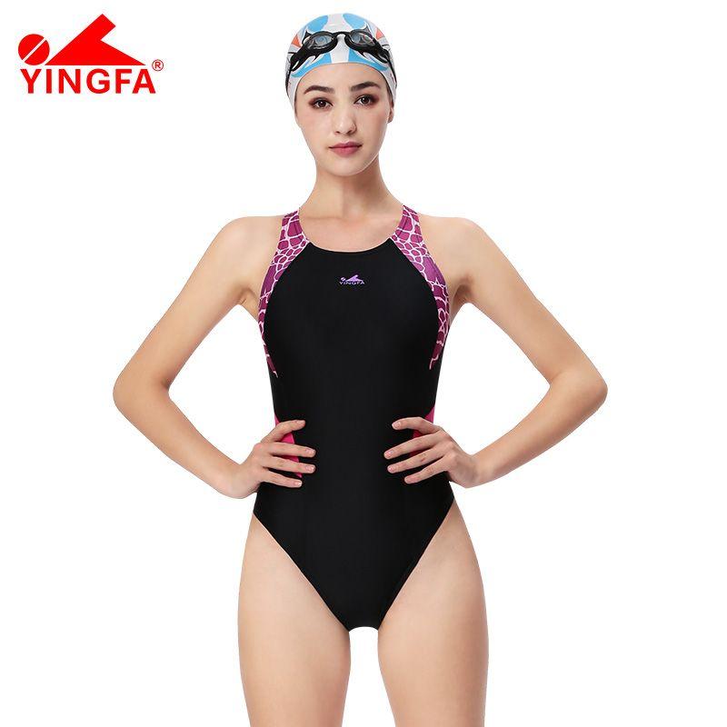 Yingfa une pièce filles professionnelles course maillots de bain enfants compétitif maillot de bain femmes compétition maillot de bain professionnel